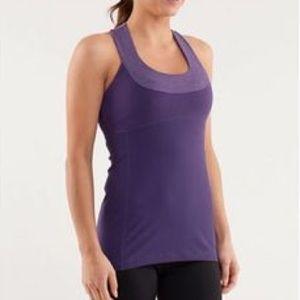Lululemon Purple Scoop Neck Halter Gym Tank Top 8